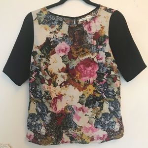 Urban Outfitters Kimichi Blue Floral Top